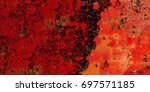 red grunge background. abstract ... | Shutterstock . vector #697571185
