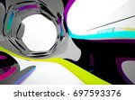 abstract dynamic interior with... | Shutterstock . vector #697593376