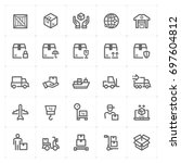 mini icon set   logistic and... | Shutterstock .eps vector #697604812