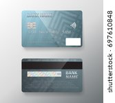 illustration of vector credit...   Shutterstock .eps vector #697610848
