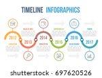 timeline infographics template... | Shutterstock .eps vector #697620526