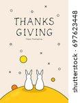 rabbit background illustration | Shutterstock .eps vector #697623448