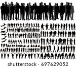 vector  isolated  collegiate... | Shutterstock .eps vector #697629052
