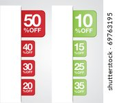 vector. percent off tags for...   Shutterstock .eps vector #69763195