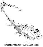 music notes   Shutterstock .eps vector #697635688