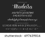 handwritten script font. hand... | Shutterstock .eps vector #697639816