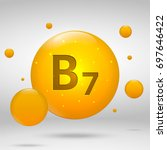 vitamin b7 gold icon. biotin... | Shutterstock .eps vector #697646422