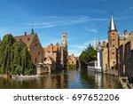 the rozenhoedkaai canal in... | Shutterstock . vector #697652206