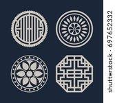 korean traditional pattern icon   Shutterstock .eps vector #697652332