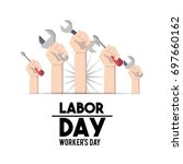 american labor day tradition... | Shutterstock .eps vector #697660162
