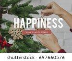 merry christmas enjoyment...   Shutterstock . vector #697660576