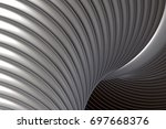 3d rendering of an abstract 3d... | Shutterstock . vector #697668376