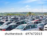 lots of cars parking at airport ... | Shutterstock . vector #697672015