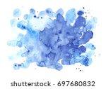 watercolor shapeless blot.... | Shutterstock . vector #697680832