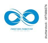 friends forever  everlasting... | Shutterstock . vector #697686076