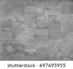 slate tile  seamless texture... | Shutterstock .eps vector #697695955