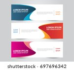 set of modern colorful banner... | Shutterstock .eps vector #697696342