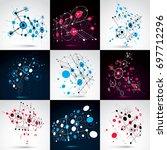 set of bauhaus abstract... | Shutterstock . vector #697712296