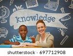 digital composite of happy... | Shutterstock . vector #697712908