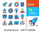 collection of line icons for... | Shutterstock . vector #697713028