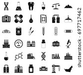 chemical molecule icons set.... | Shutterstock .eps vector #697717462