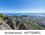 cape town cityscape from table... | Shutterstock . vector #697720852