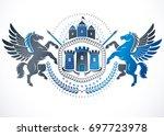 retro vintage insignia. design... | Shutterstock . vector #697723978