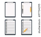clipboard icon set isolated on...