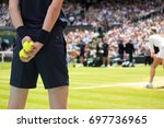 ball boy tennis tournament | Shutterstock . vector #697736965