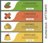 spices web banner templates set.... | Shutterstock .eps vector #697738495