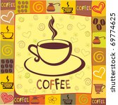 cup of coffee with abstract... | Shutterstock .eps vector #69774625