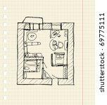 redevelopment of apartment ... | Shutterstock .eps vector #69775111