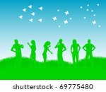 friends group | Shutterstock .eps vector #69775480
