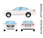 car vector template on white... | Shutterstock .eps vector #697764268