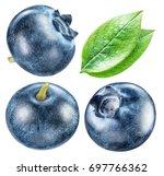 blueberries and blueberries... | Shutterstock . vector #697766362