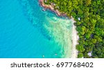 sea aerial view  top view...   Shutterstock . vector #697768402