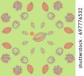 floral   pattern. hand drawn. | Shutterstock . vector #697776532