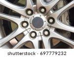 automobile alloy wheels. | Shutterstock . vector #697779232