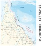 road map of the cap york... | Shutterstock .eps vector #697783498