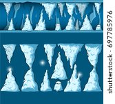 seamless cartoon vector cave