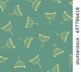 inflorescence dill. vector... | Shutterstock .eps vector #697786618