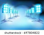 the lighting on a film set.... | Shutterstock .eps vector #697804822