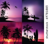 tropical set | Shutterstock .eps vector #69781885