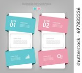 infographics template of two... | Shutterstock .eps vector #697832236