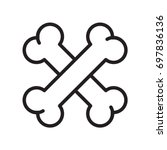 cross bone dog bone icon... | Shutterstock .eps vector #697836136