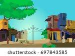 a conceptual vector... | Shutterstock .eps vector #697843585