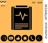 electrocardiogram symbol | Shutterstock .eps vector #697845238