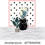 summer tropical background with ... | Shutterstock .eps vector #697846006