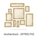 mega set of retro frames with... | Shutterstock .eps vector #697851742
