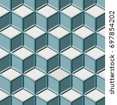 pattern with  block chain.... | Shutterstock .eps vector #697854202